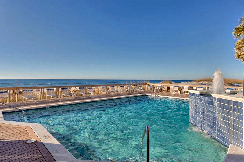 Gulf front pool at Broadmoor in Orange Beach AL