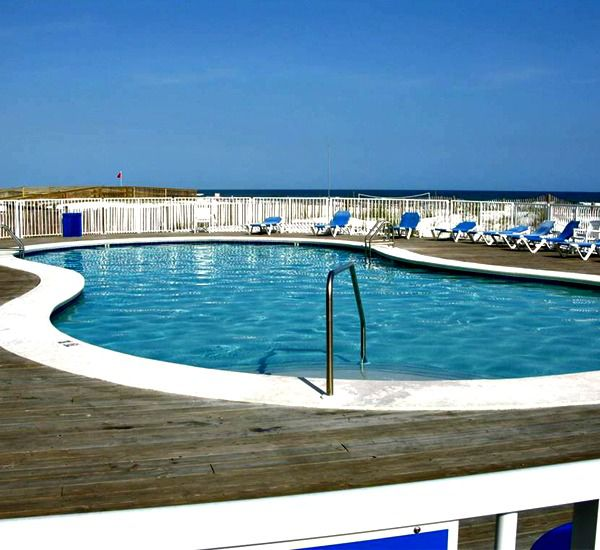Another view of one of the swimming pools at Sugar Beach Condos in Orange Beach