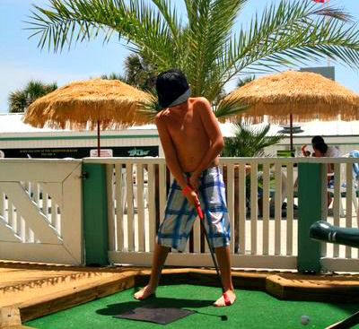 Mini-golf is one of many onsite amenities