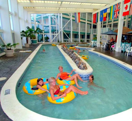 Guests love the indoor lazy river