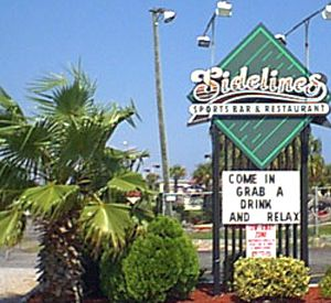 Sidelines Sports Bar & Restaurant in Pensacola Beach Florida