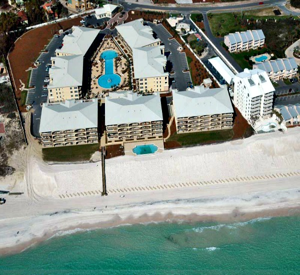 aerial view of Adagio Blue Mountain Beach Florida