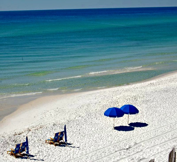 private white sand beach at Adagio Condo rentals