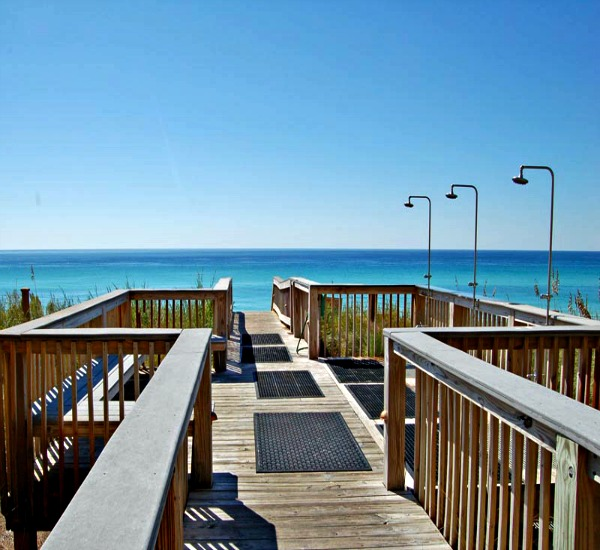 Adagio private beach boardwalk to Blue Mountain Beach