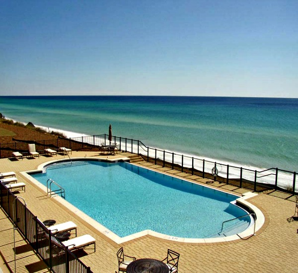 Beachfront pool at Adagio