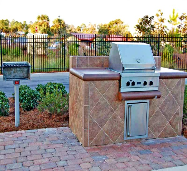 Outdoor Grills for guests use at Adagio