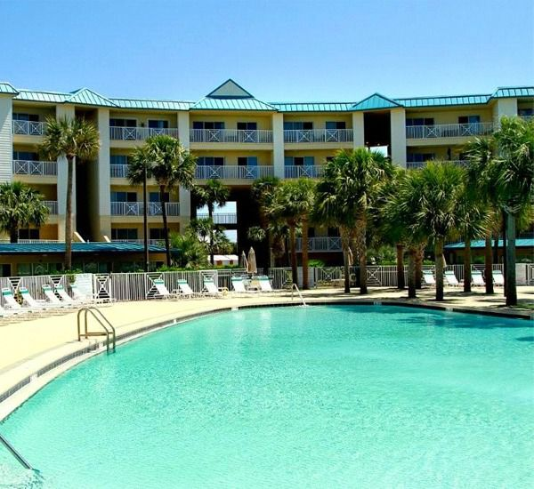 Outdoor pool at Amalfi Coast Resort  in Destin Florida.