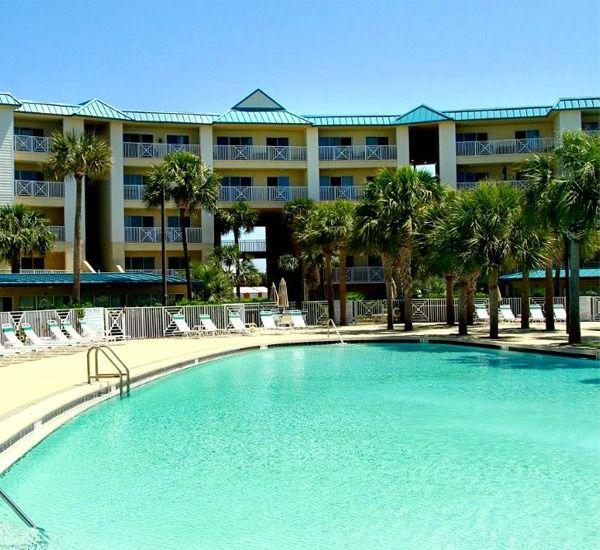 Outdoor pool at Amalfi Coast Resort  in Destin Florida.