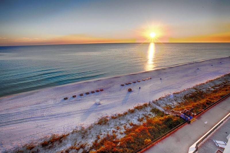 Gulf Shoreline View from Aquavista Resort Balcony