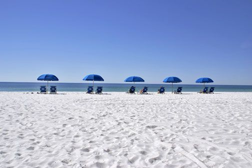 Beach is no more than 5 minutes away from the Bay Club of Sandestin in Destin Florida.