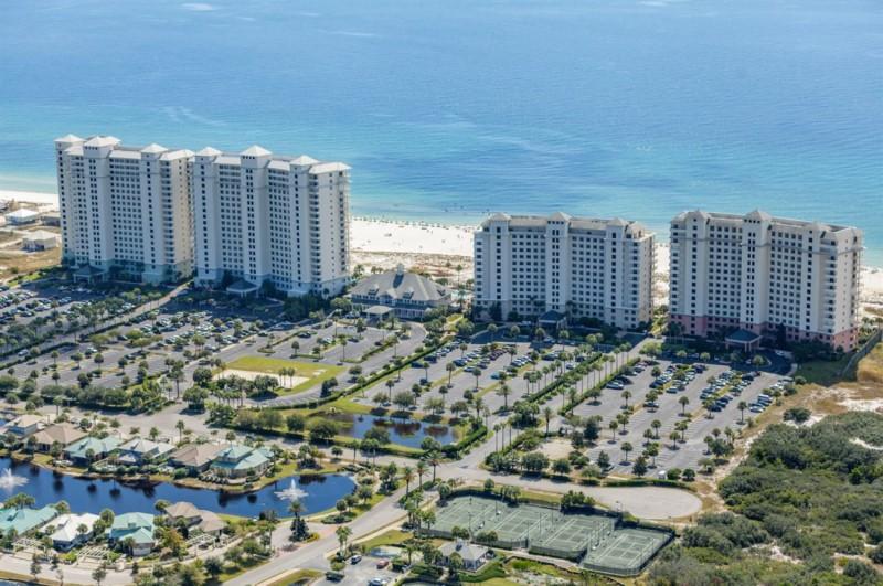 Aerial Beach Club Gulf Shores