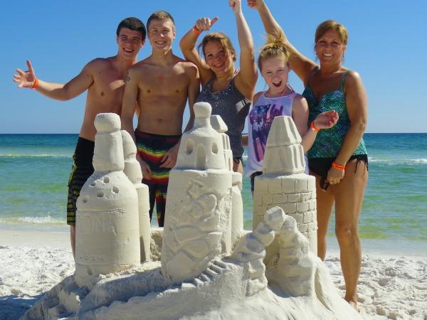 Beach Sandsculptures in Highway 30-A Florida