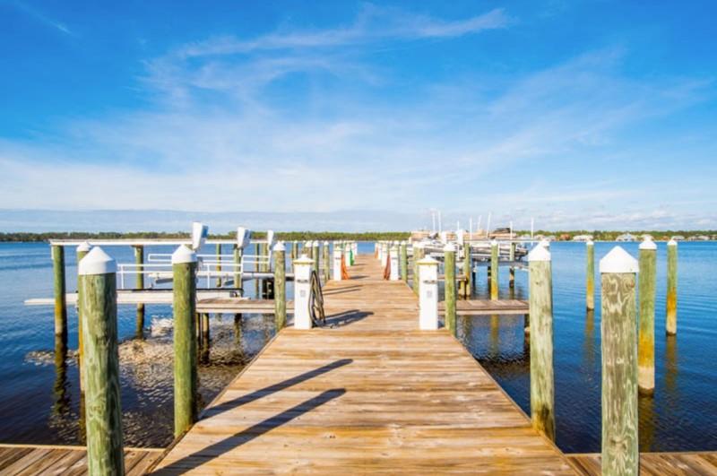 Bel Sole Condos Gulf Shores Boardwalk and Boat Slips