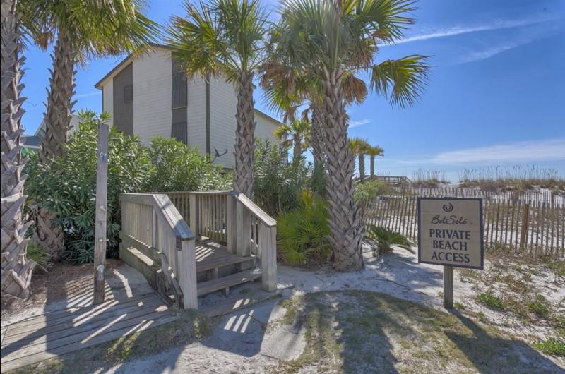 Boardwalk to Private Beach Access for Bel Sole Condos Gulf Shores