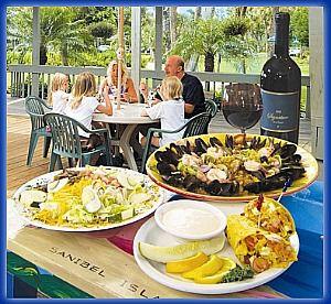 Blue Giraffe Island Dining in Sanibel-Captiva Florida