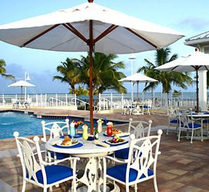 Blue Water Tiki Bar at Islander Oceanfront Resort in Islamorada Florida