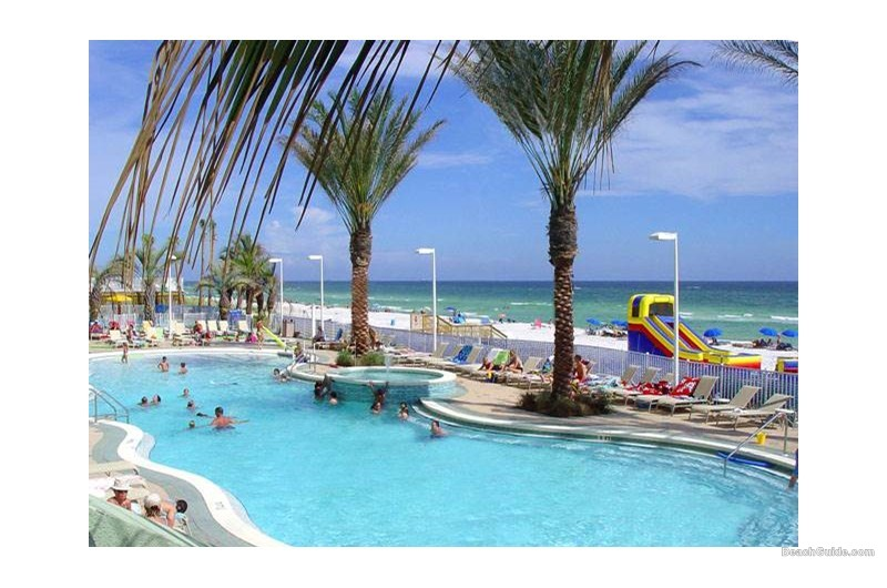 Pool that is fun for the entire family at Boardwalk Beach Resort Condos in Panama City Beach Florida