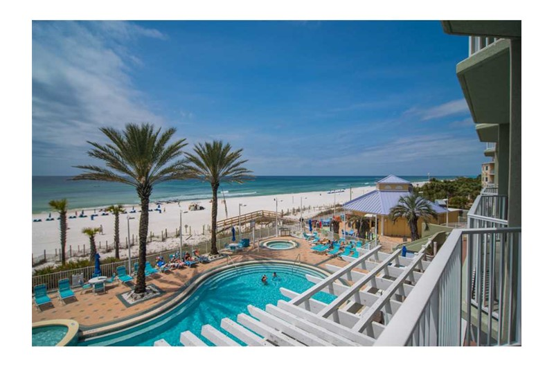 Enjoy the refreshing pool at Boardwalk Beach Resort Condo in Panama City Beach Florida