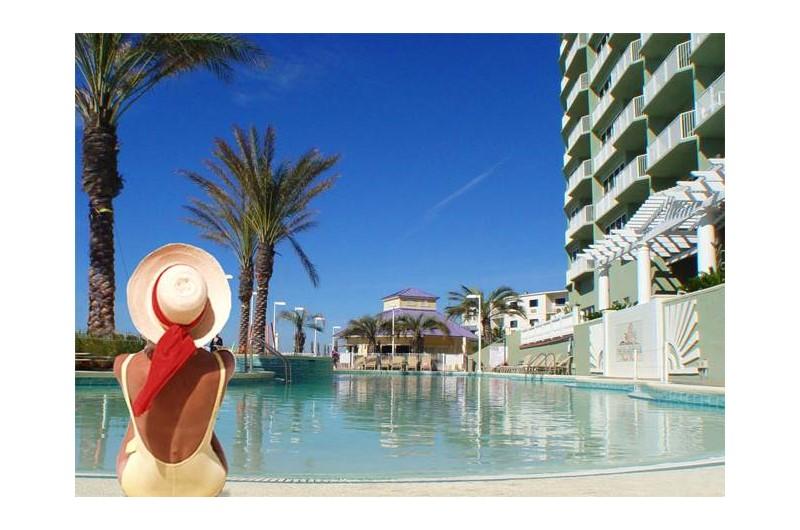 Swimming is amazing at Boardwalk Beach Resort Condos in Panama City Beach FL