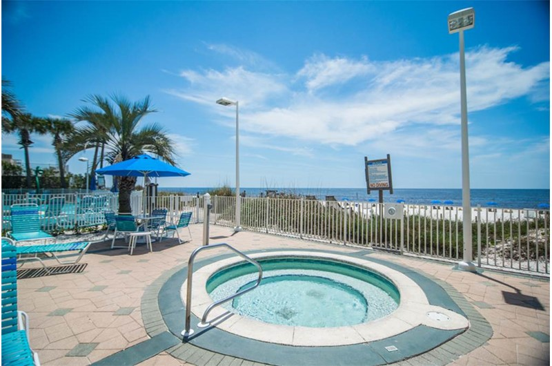 A hot tub is a bonus at Boardwalk Beach Resort Condos in Panama City Beach Florida