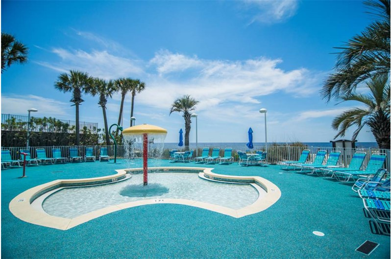 The kids will love the splash pool at Boardwalk Beach Resort Condos in Panama City Beach Florida