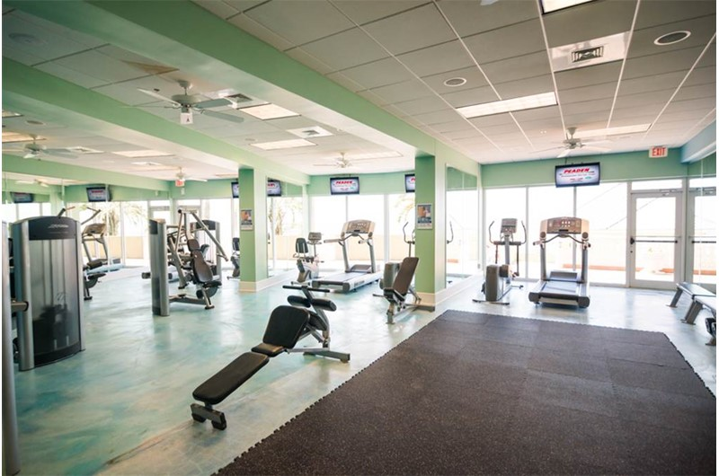 Get your workout in at Boardwalk Beach Resort Condo in Panama City Beach Florida
