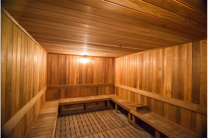 Relax in the large sauna at Boardwalk Beach Resort Condos in Panama City Beach Florida