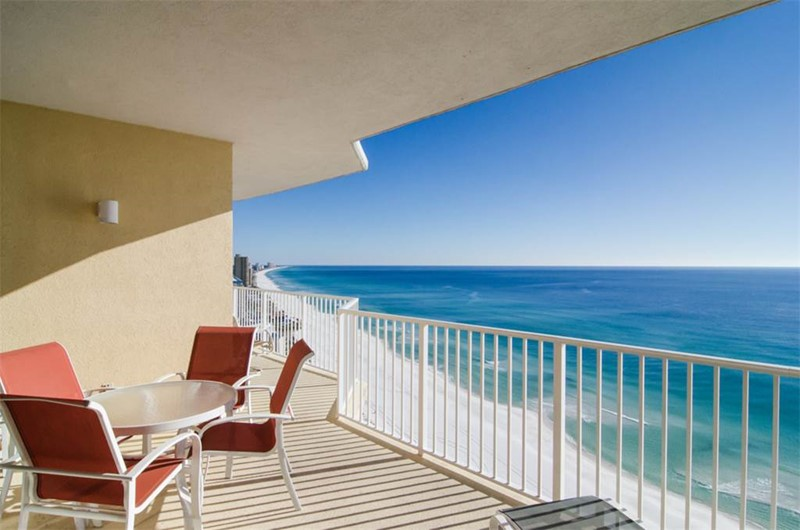 Stunning beach views from you balcony at Boardwalk Beach Resort Condos in Panama City Beach Florida