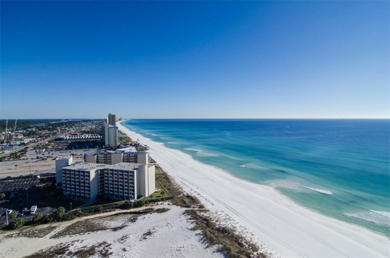 You can see miles of ocean front from your Boardwalk Beach Rsort Condo balcony in Panama City Beach Florida