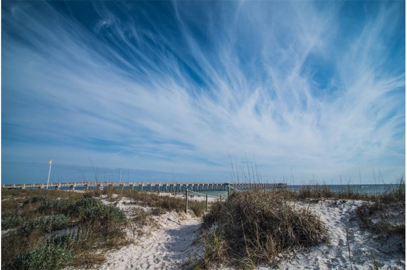You can see the pier from Boardwalk Beach Resort in Panama City Beach Floida