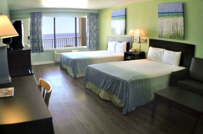 Standard bedroom at Boardwalk Beach Resort Hotel in Panama City
