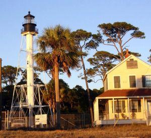 Cape San Blas Lighthouse in Cape San Blas Florida