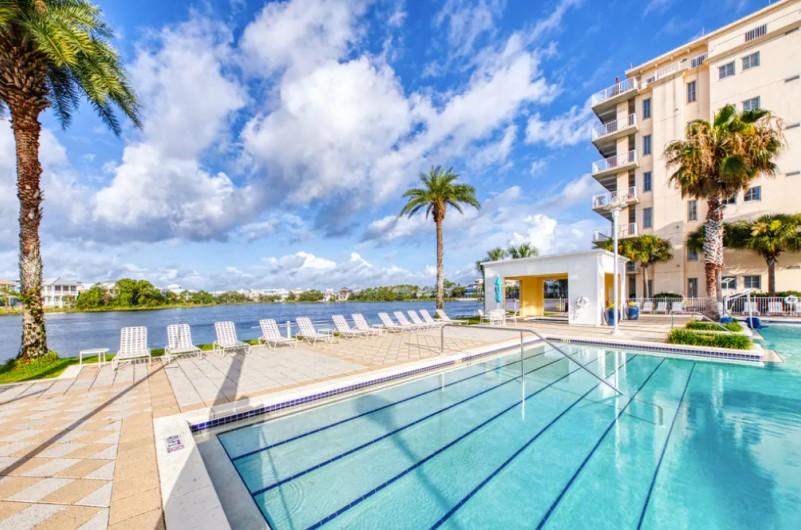 Pool View from Carillon Beach Resort Inn Panama City Beach Florida