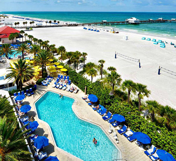 Hilton Clearwater pool view