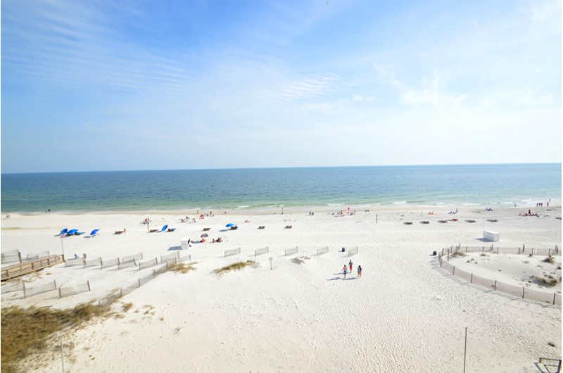 Beach view from Clearwater Condo balcony.