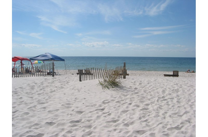 Private white sand beach at Clearwater Condos