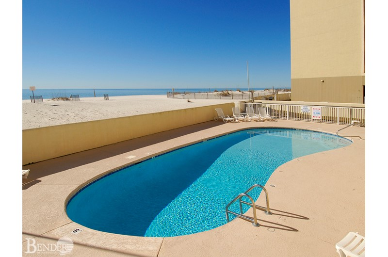 Beachfront pool at Clearwater Condominiums in Gulf Shores AL