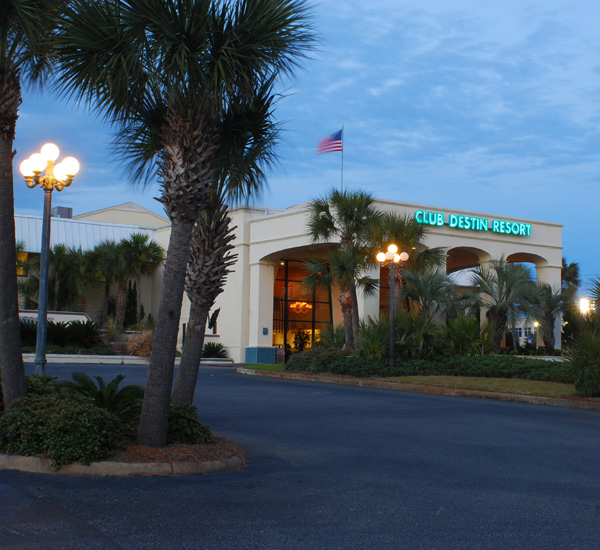 The entrance at Club Destin Resort in Destin Florida