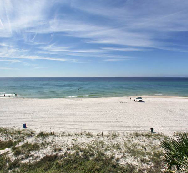 View of beach from Coastal Commodity in Panama City Beach Florida