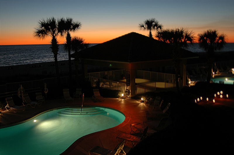 Stunning sunset view from Coral Reef Condos in Panama City Beach FL