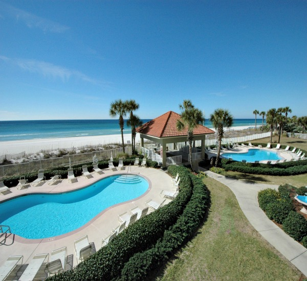 Beachfront pool at Coral Reef Condos - Panama City Beach FL