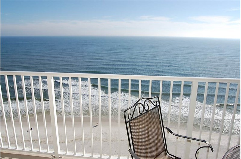 Spectacular view from your balcony at Crystal Shores West Condos in Gulf Shores AL