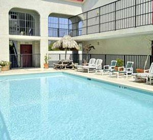 Heated pool at the Days Inn Destin in Destin Florida
