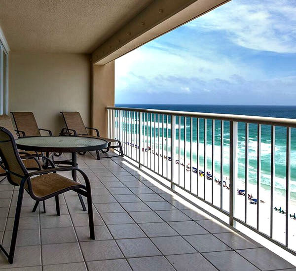 Beachfront balcony at Destin Gulfgate Condominiums in Destin FL