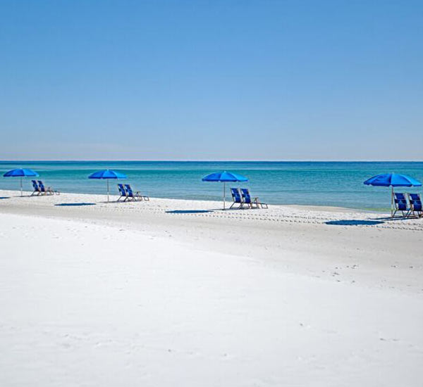 The beach at Destin Gulfgate Condominiums in Destin FL