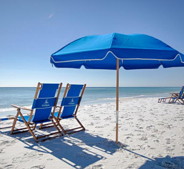 Beach chairs at Destin Gulfgate Condominiums in Destin FL