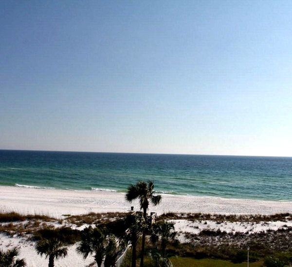 View of the beach from the dunes at Destin on the Gulf Condos in Destin Florida