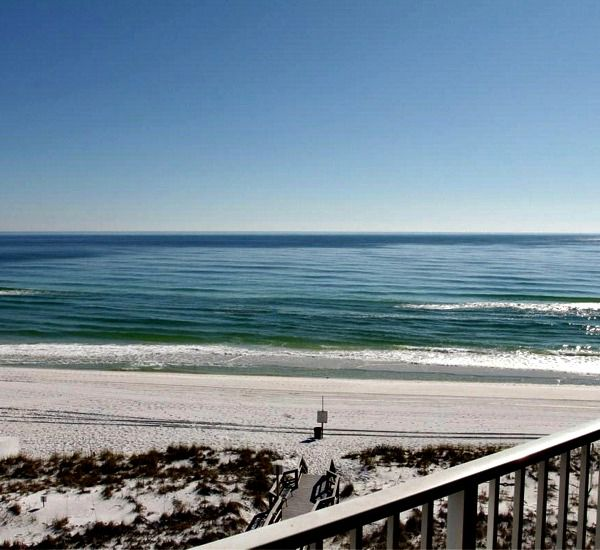 Boardwalk to the beach at Destin on the Gulf Condos in Destin Florida