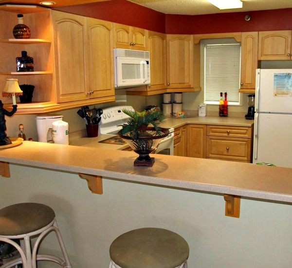 Fully equipped kitchens at Destin on the Gulf Condos in Destin Florida