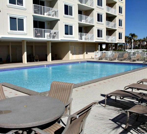 Beachside pool at Destin on the Gulf Condos in Destin Florida